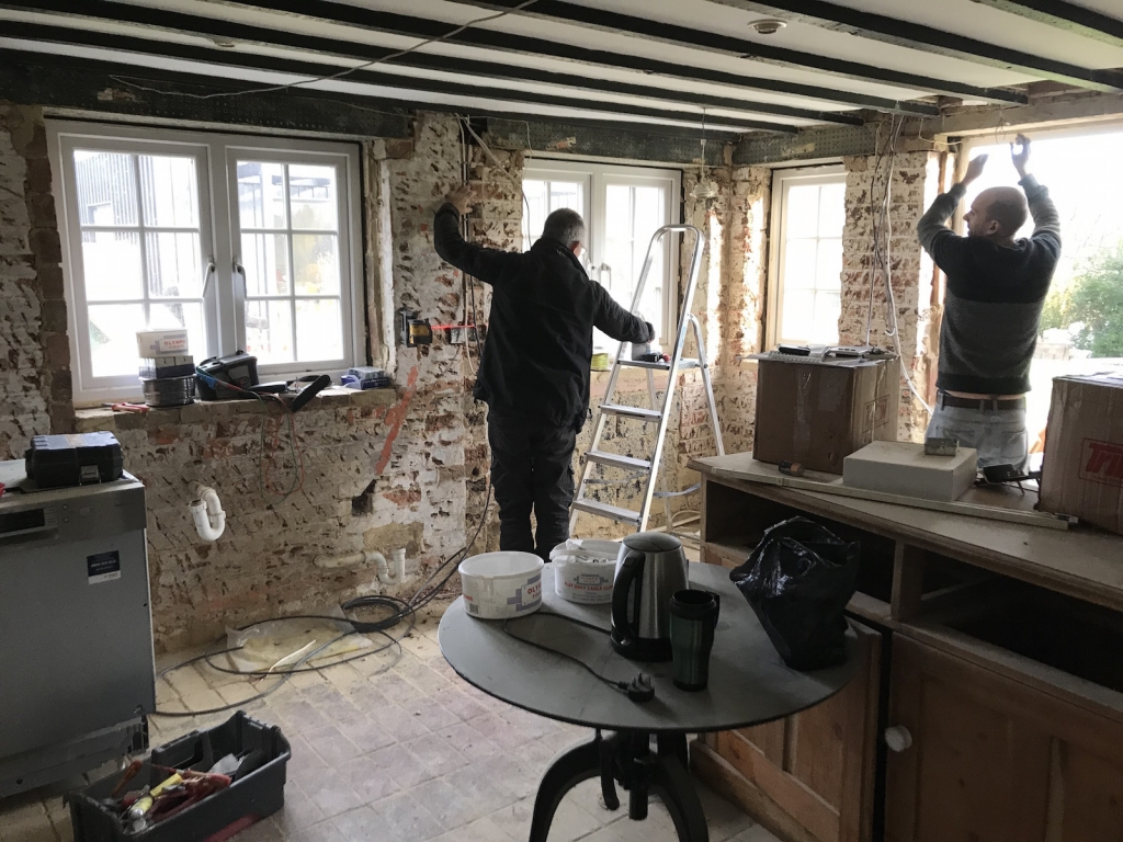 Country house renovation in the kitchen