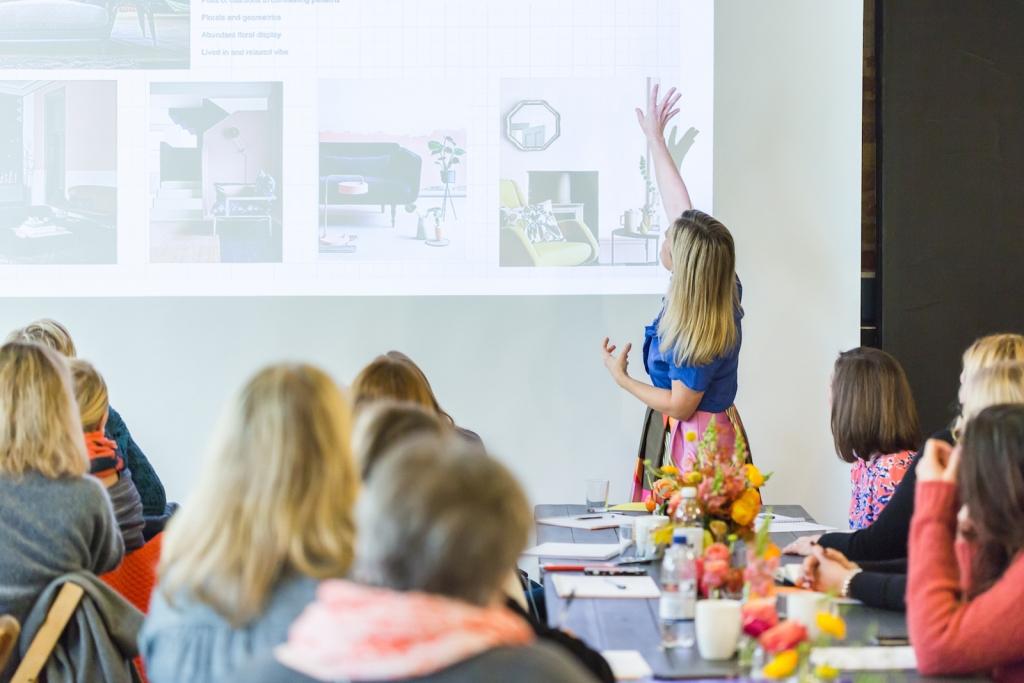 Interior designer Sophie Robinson discussing colour psychology for interior designers