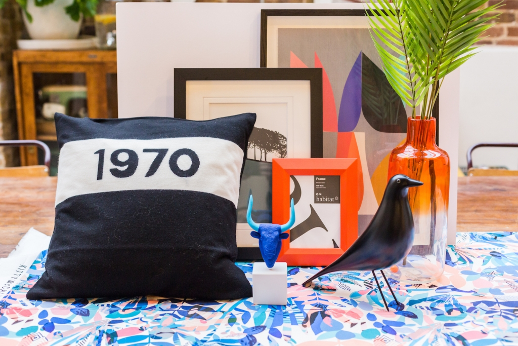 Interior styling the winter personality for Colour Psychology workshop hosted by designer Sophie Robinson