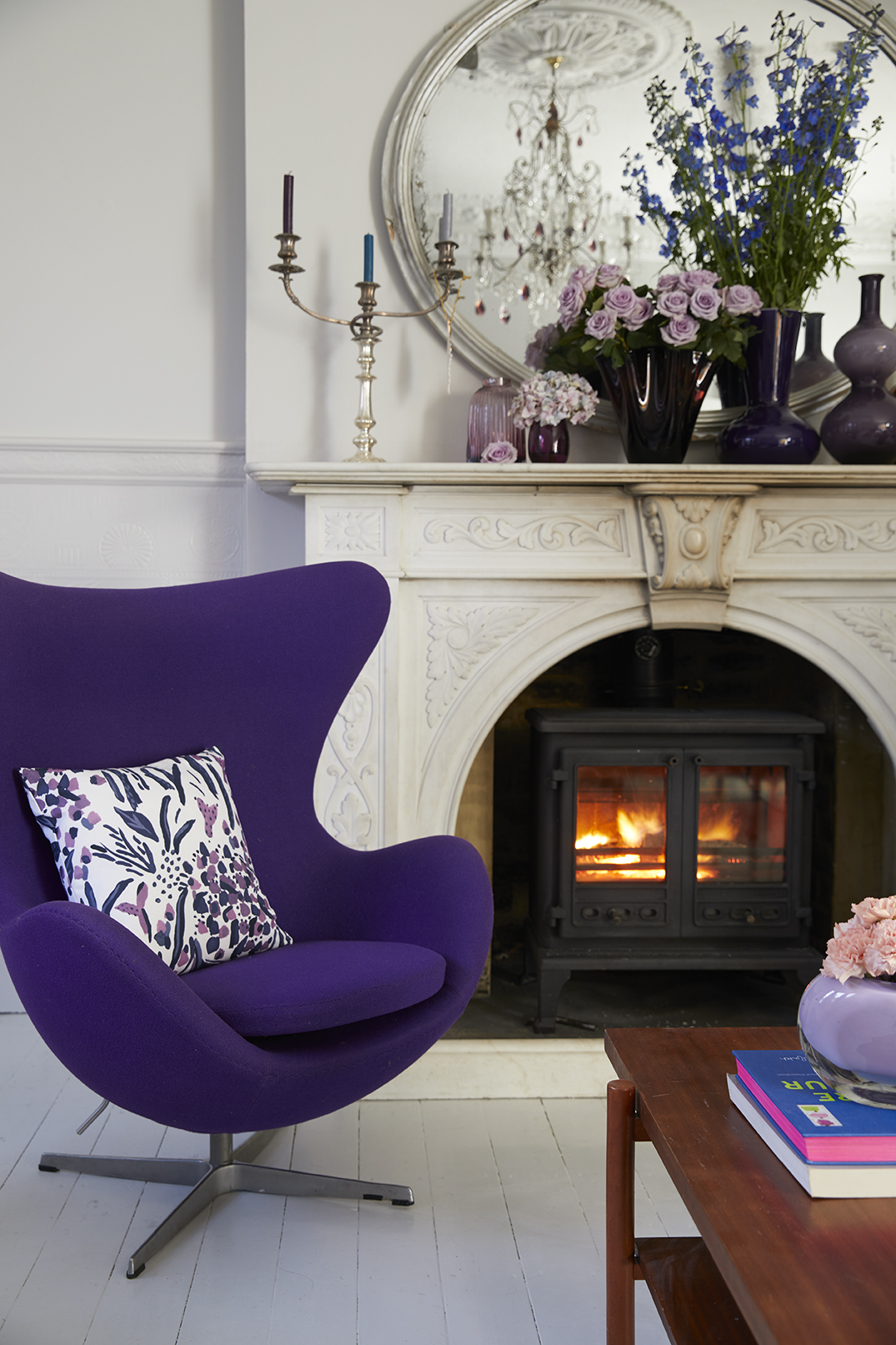 Pantone Colour Of The Year For 2018 Is Ultra Violet. This Egg Chair By Arne