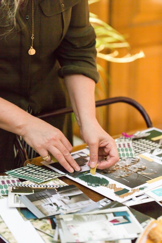 creating a mood board for an interior design scheme