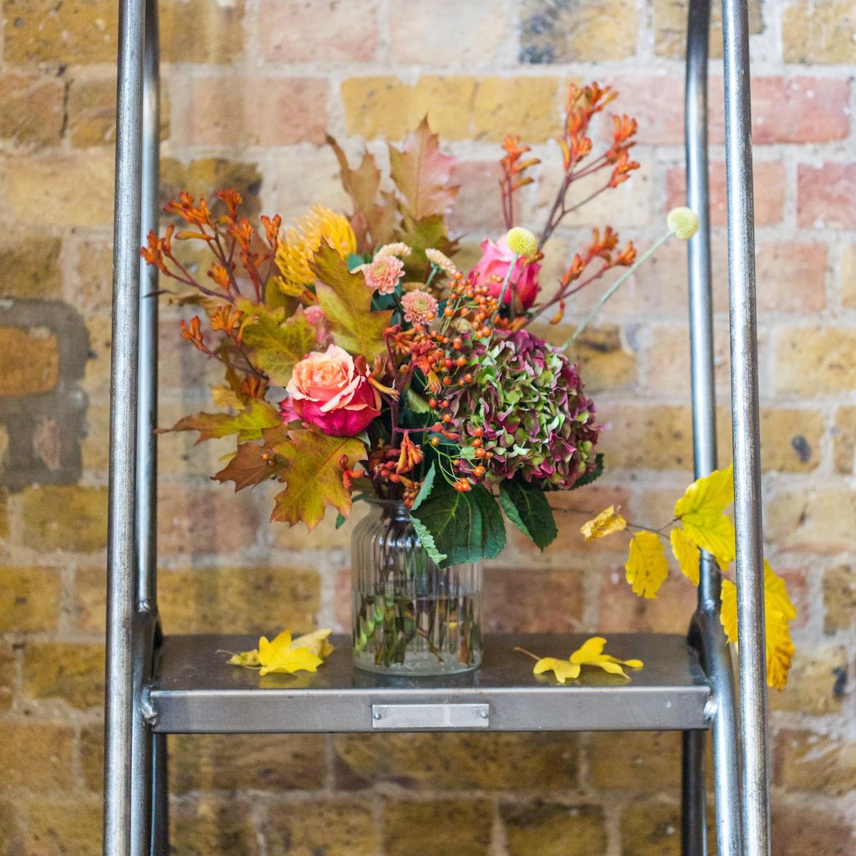 autumn style flowers