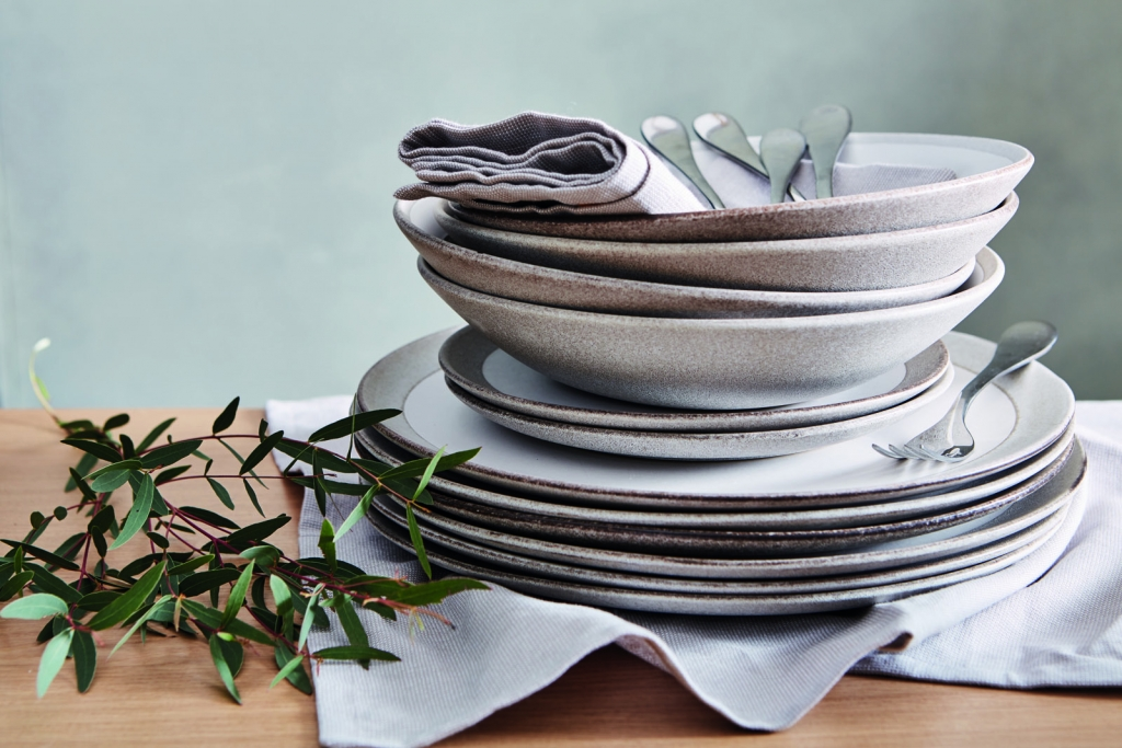 hand thrown crockery is a relaxed look for summer entertaining