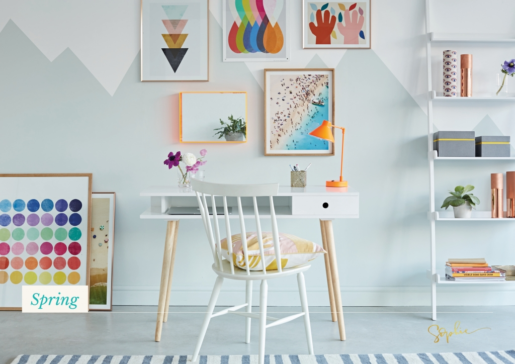 Spring personailty colour scheme is light and airy, youthful and fun