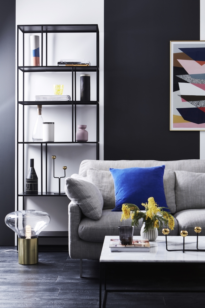 Colour psychology winter personality loves sleek interiors with cool colours and high contrast. Room designed by Sophie Robinson for Habitat