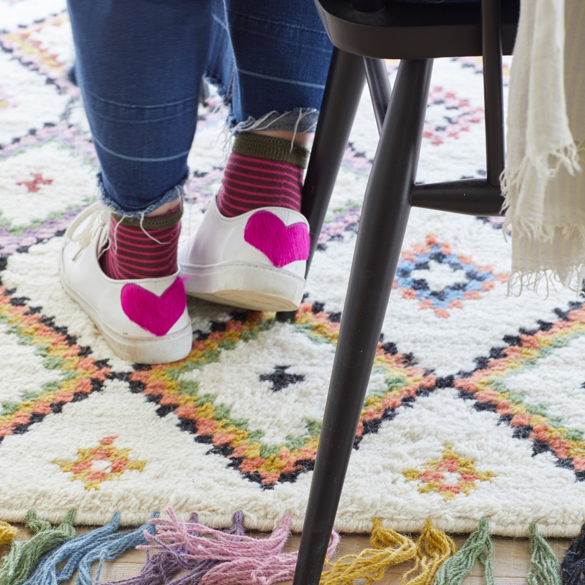 Interior designer Sophie Robinson shoots La Redoute rug