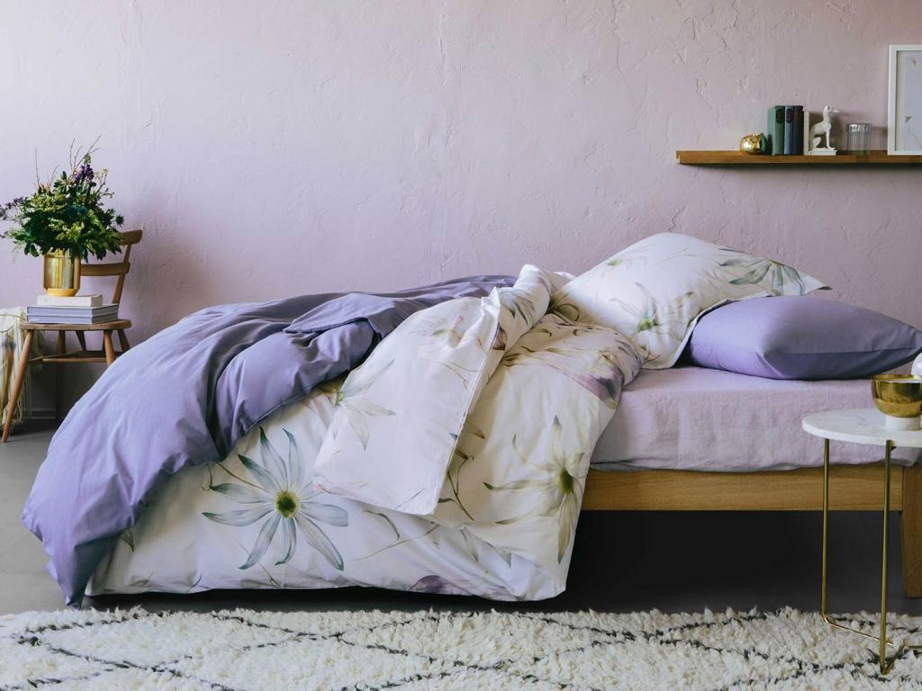 On trend mauve bedroom scheme by Zara Home