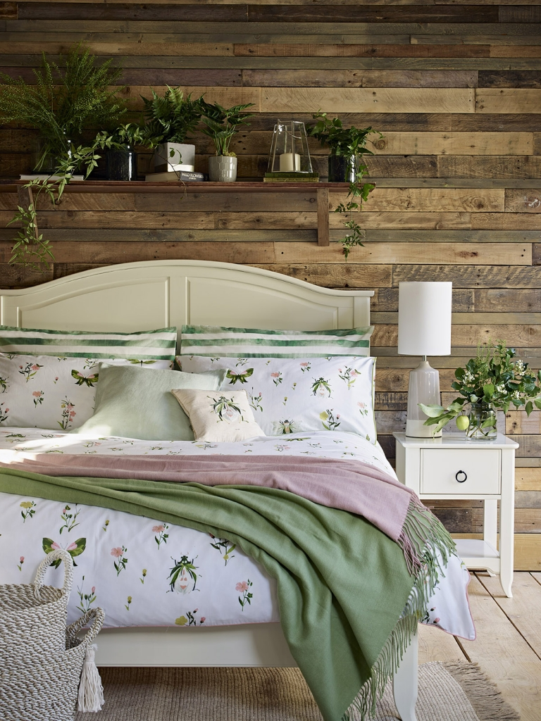 Nature inspired bedroom scheme by Marks & Spencer