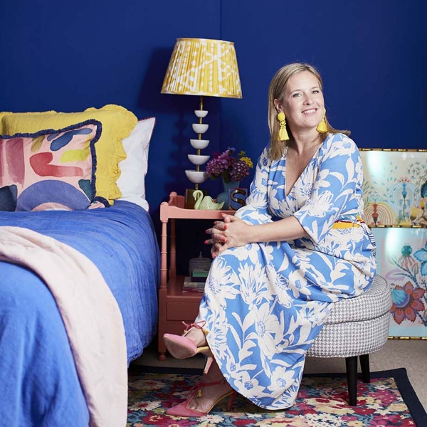 Alternative Flooring rug and portrait in the home of interior designer sophie robinson