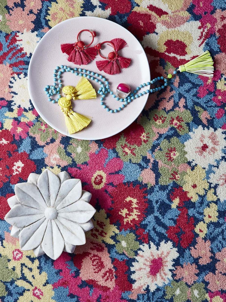 Alternative Flooring rug detail in the home of interior designer sophie robinson
