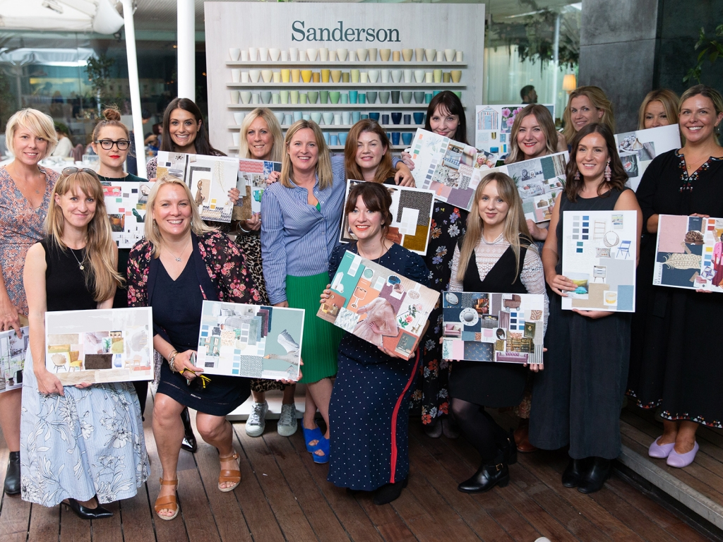 Interior designer Sophie Robinson hosts Sanderson Style Library colour event