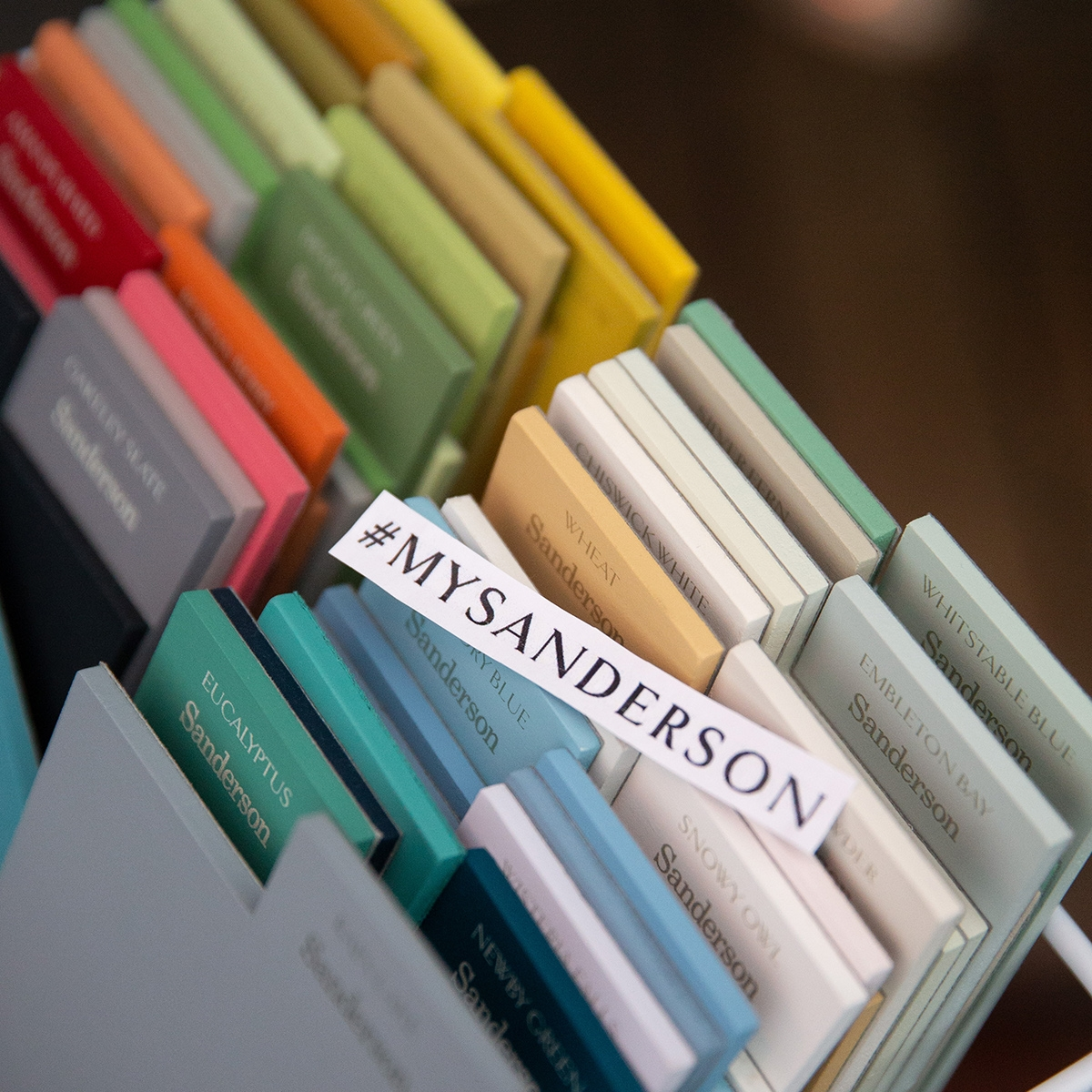 Interior designer Sophie Robinson hosts Sanderson Style Library colour event new colour paint collection