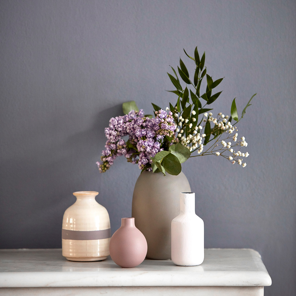 lilac grey is set to be the new trend in interiors. this is oakley slate by sanderson