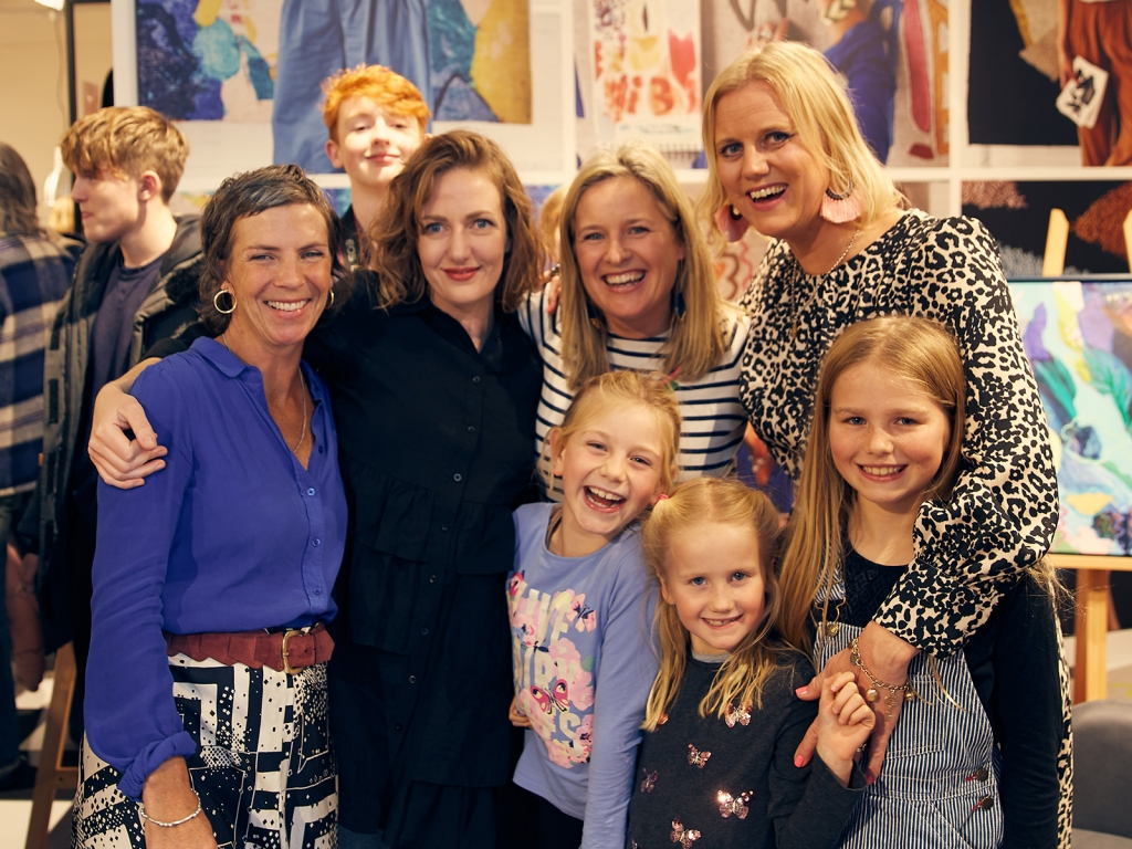 Interior designer Sophie Robinson attends Habitat opening in Brighton, 3 local artists design exclusive rugs, Sophie Abbot, Becky Blair and Lauri Hopkins