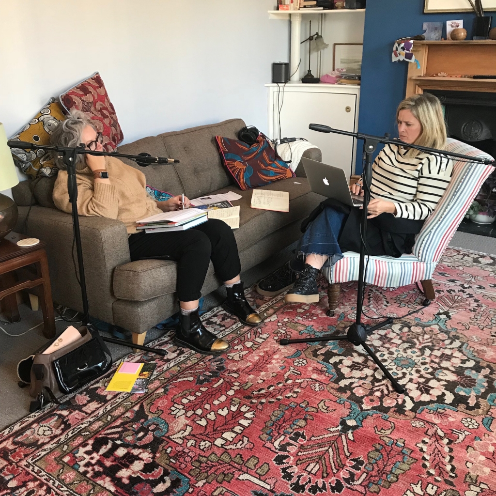 kate watson smyth and sophie robinson record their odcast, The Great Indoors, and discuss how to up do your rented pad