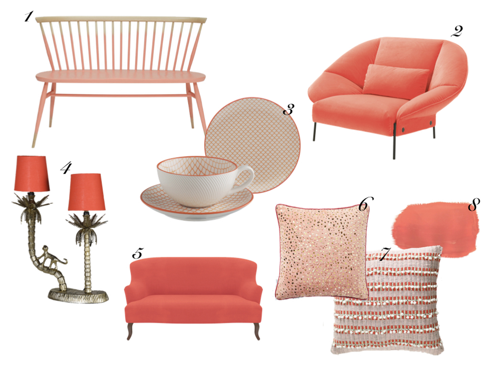 Interior designer and colour lover Sophie Robinson picks her favourite interior products following the Pantone colour of the year Living Coral