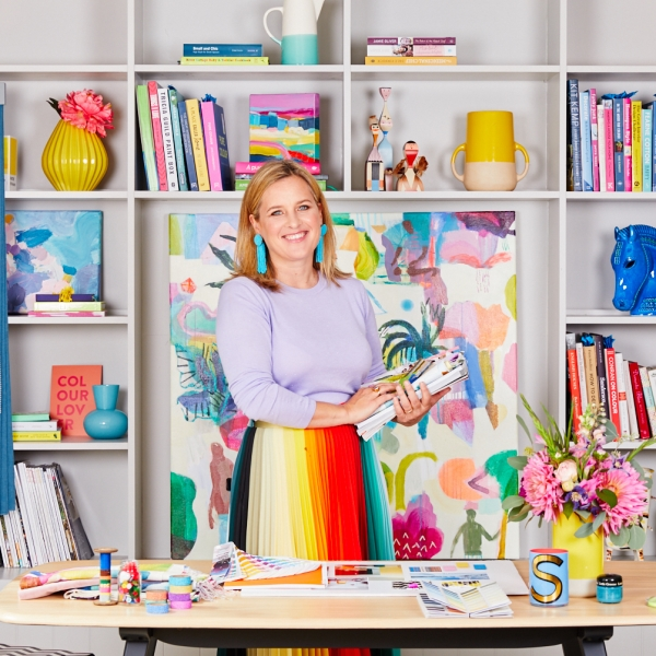 Interior designer and colour expert Sophie Robinson holds workshops and onlne courses on how to become your own interior designer