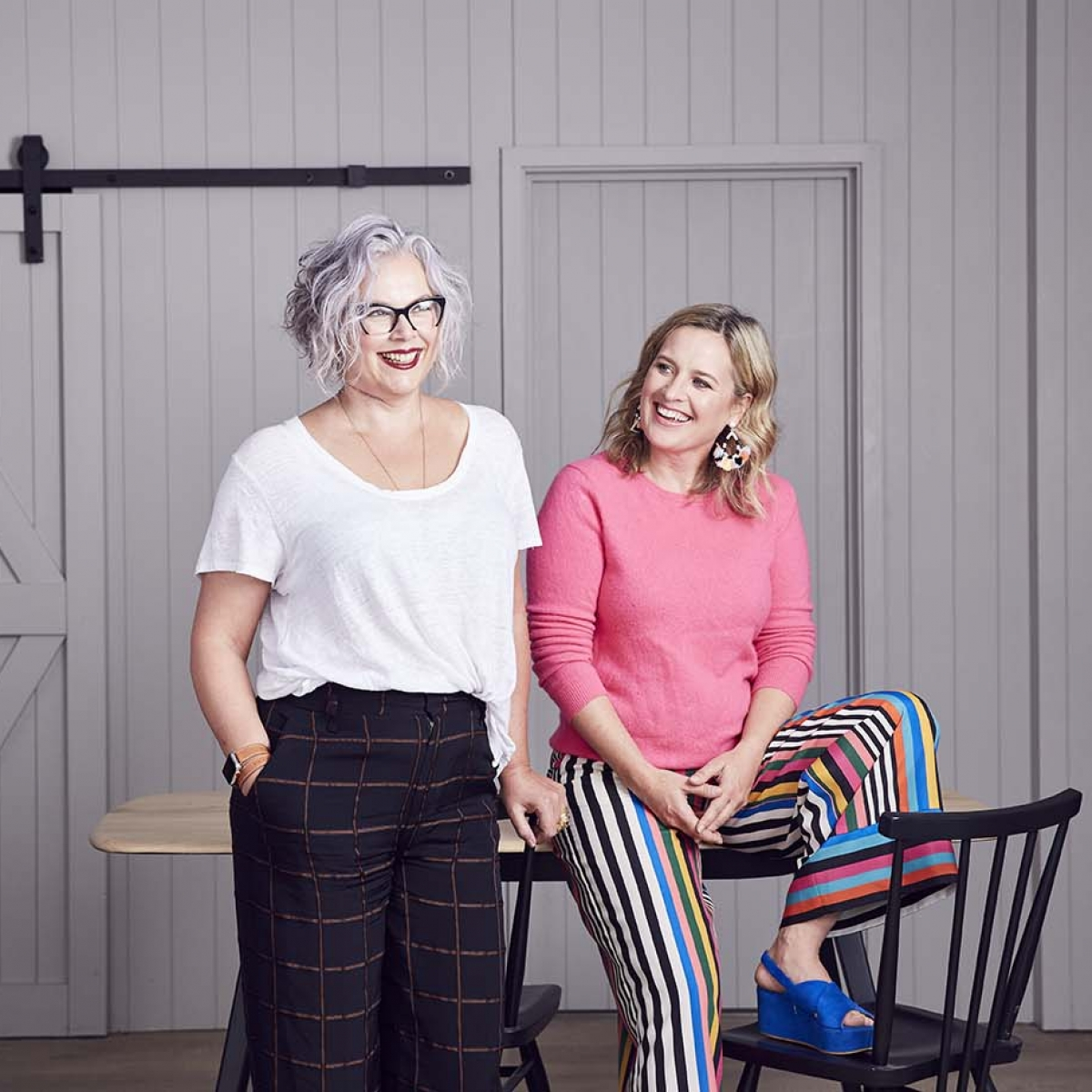 The great Indoors podcats hosts kate watson Smyth and Sophie Robinson discuss why white paint is a bad choice for interior design and decoration, how to plan an open place space and how to shop consciously for your home decor