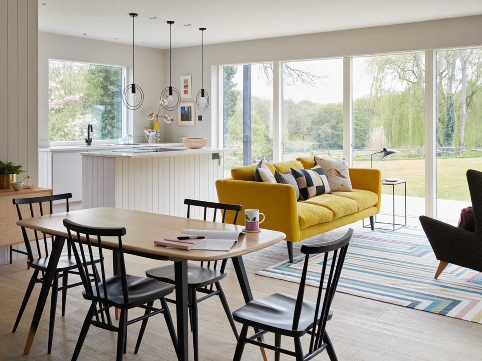 Interior designer Sophie Robinson and kate Watson-Smyth give interiors advice on The Great Indoors Podcast Sophie's mums' open plan annex