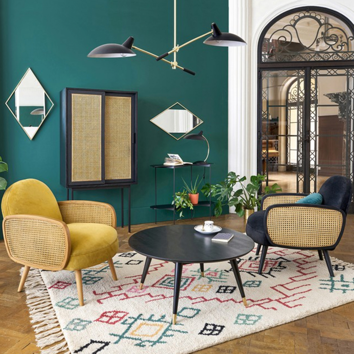Interior Designer Sophie Robinson discusses why cane is a new trend for interiors and not just for the conservatory or sunroom. Whether painted or natural, these pieces can makeover a living room or bedroom #sophierobinson #canefurniture #wicker