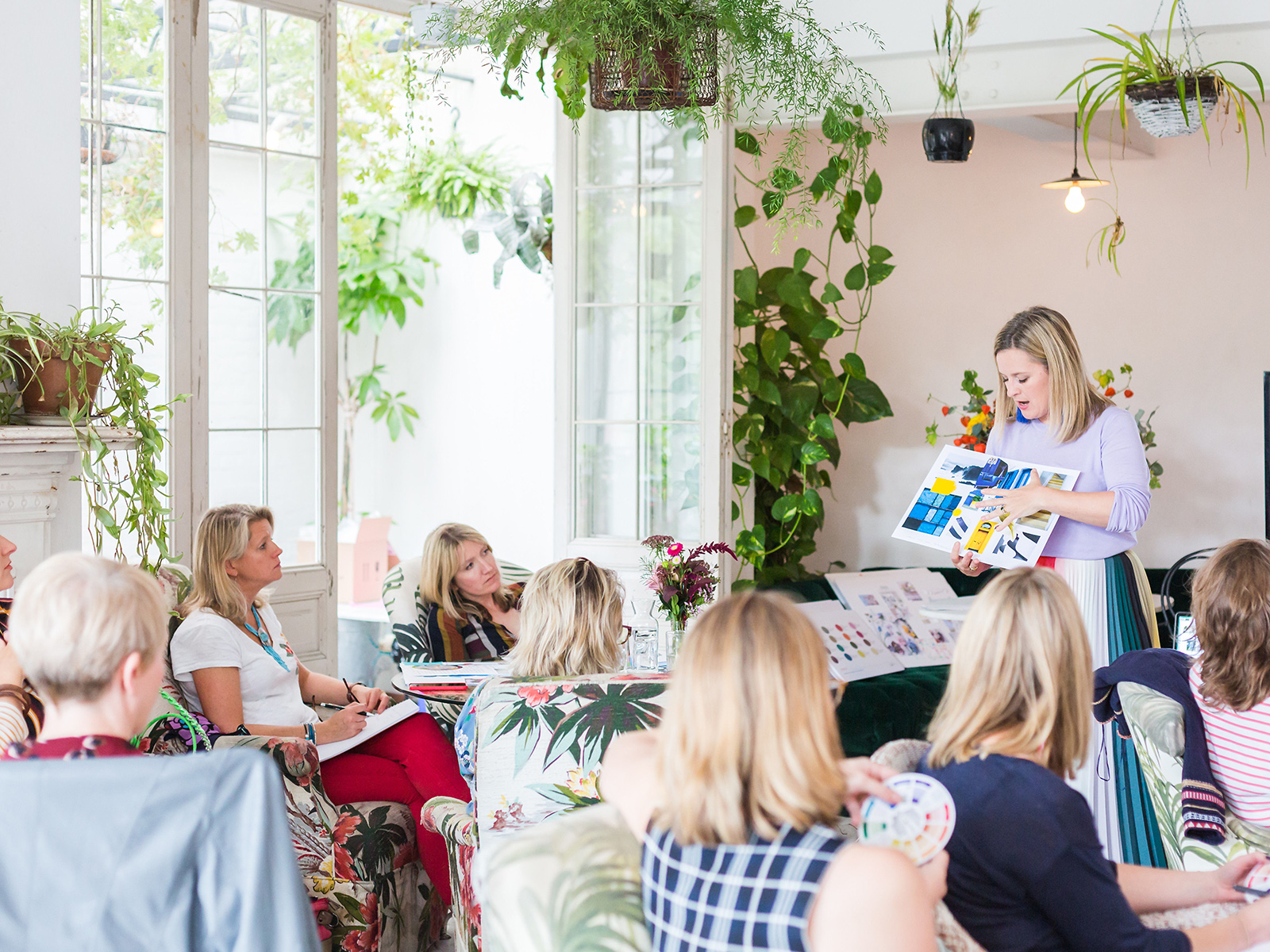 interior designer sophie robinsons hosts inspirational interior design worksops, to help people colour scvheme and renovate their home with ease
