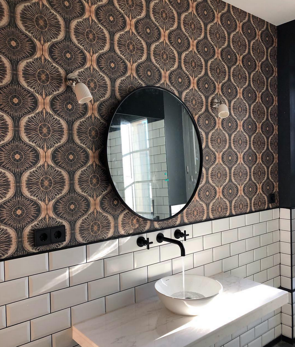 interior designer Sophie Robinson defends wallpapering the bathroom as a great way to interior design your small bathroom