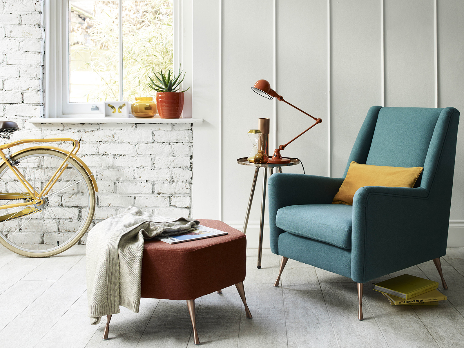 Interior Designer Sophie Robinson advises on how to make small spaces appear bigger. The DFS Capsule collection features furniture with slender arms, space-saving proportions and can come apart for easy access. #sophierobinson #smallspaceliving #dfs