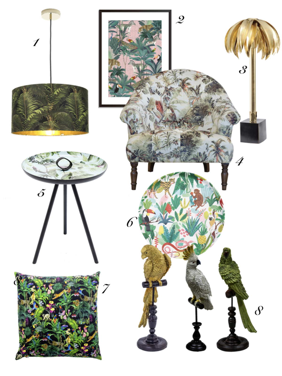 Interior designer and colour queen talk about the recent trend she's calling it jungle chintz. From soft furnishings to furniture, jungle prints and shapes can make a statement in any form