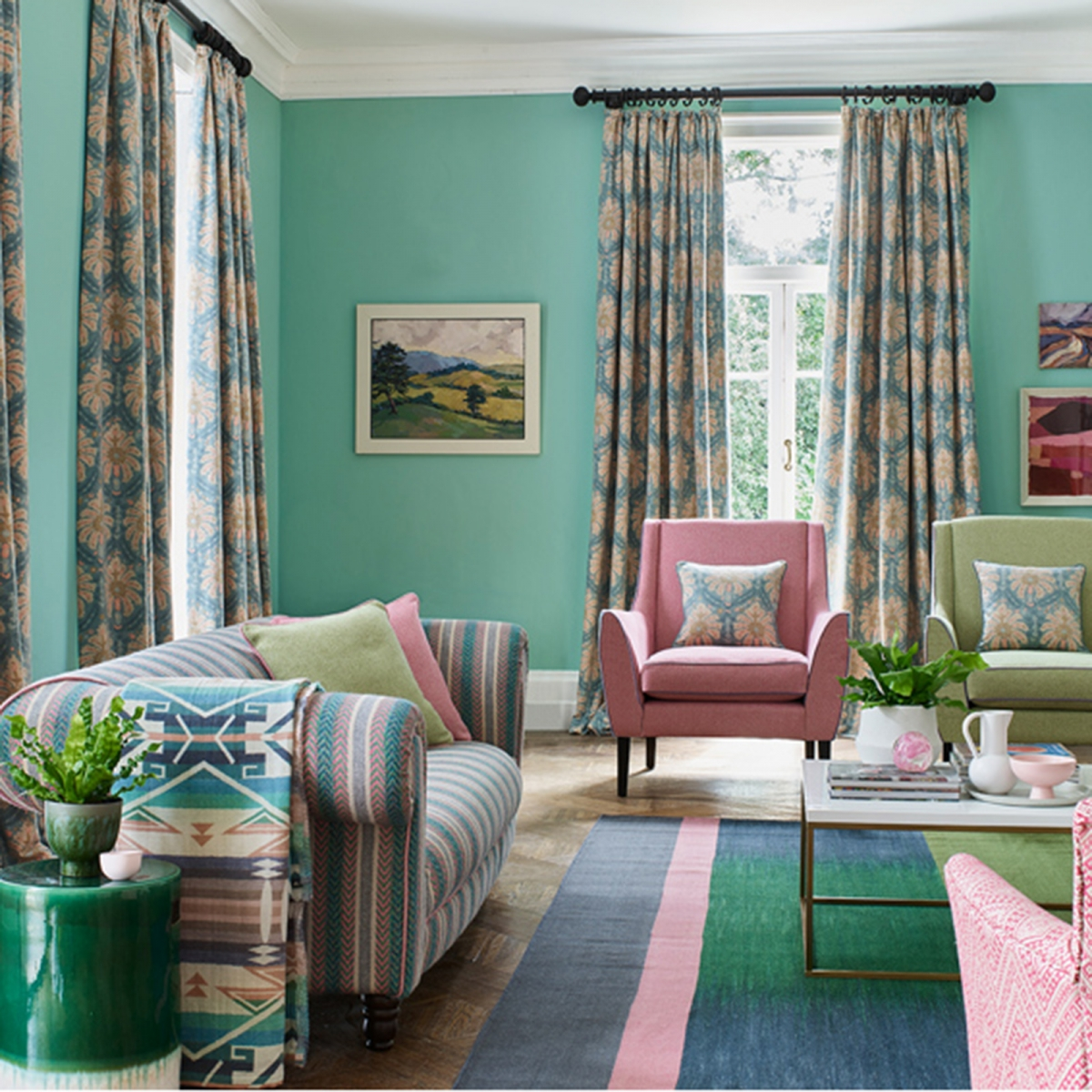 My latest colour crush is Mint green for it's fresh, uplifting tone. This pastel shade works extremely well with pink in varying shades and whether on living room walls, accent pieces or light fixtures, it will create a modern and inviting space. Mint is set to be a key colour trend this year and well into 2020. Check out the blog for top tips and inspiration on using this hue. #sophierobinson #mint #colourcrush #lovecolour