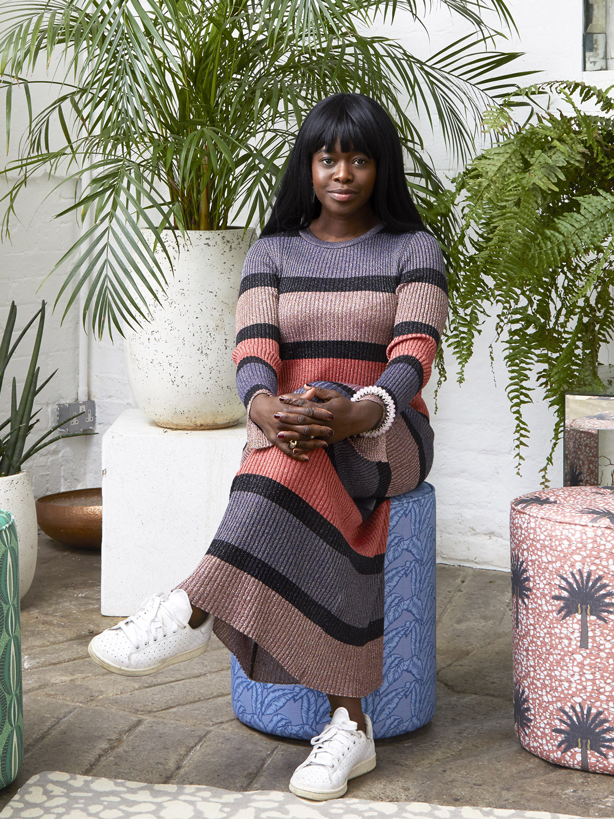 Sophie Robinson interviews colourful designer Eva Sonaike.