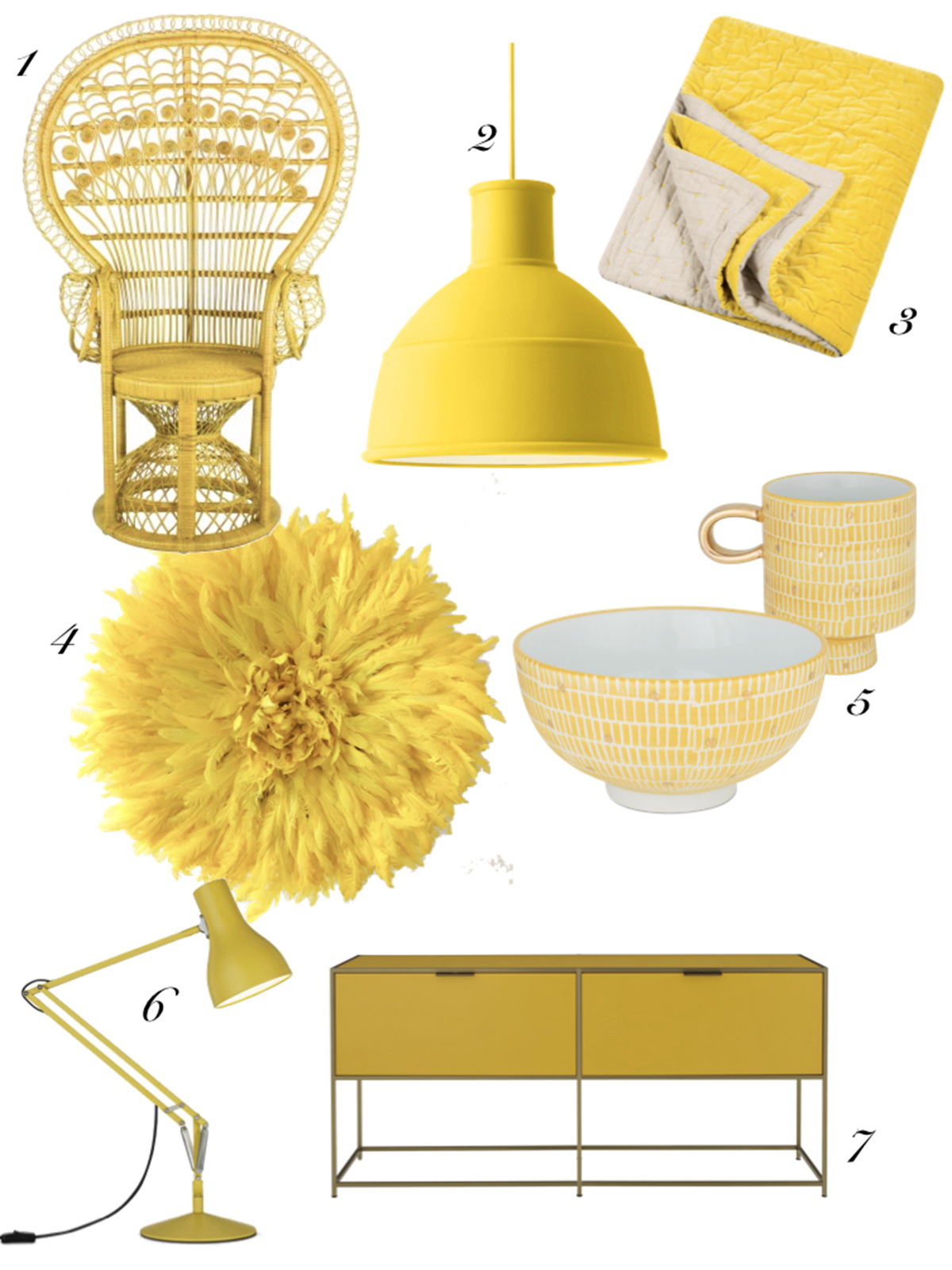 Sophie Robinson chooses her favourite pieces of furniture and accessories in a bright and sunny hue as part of her colour crush, yellow. #colourcrush #sophierobinson #yellowinterior