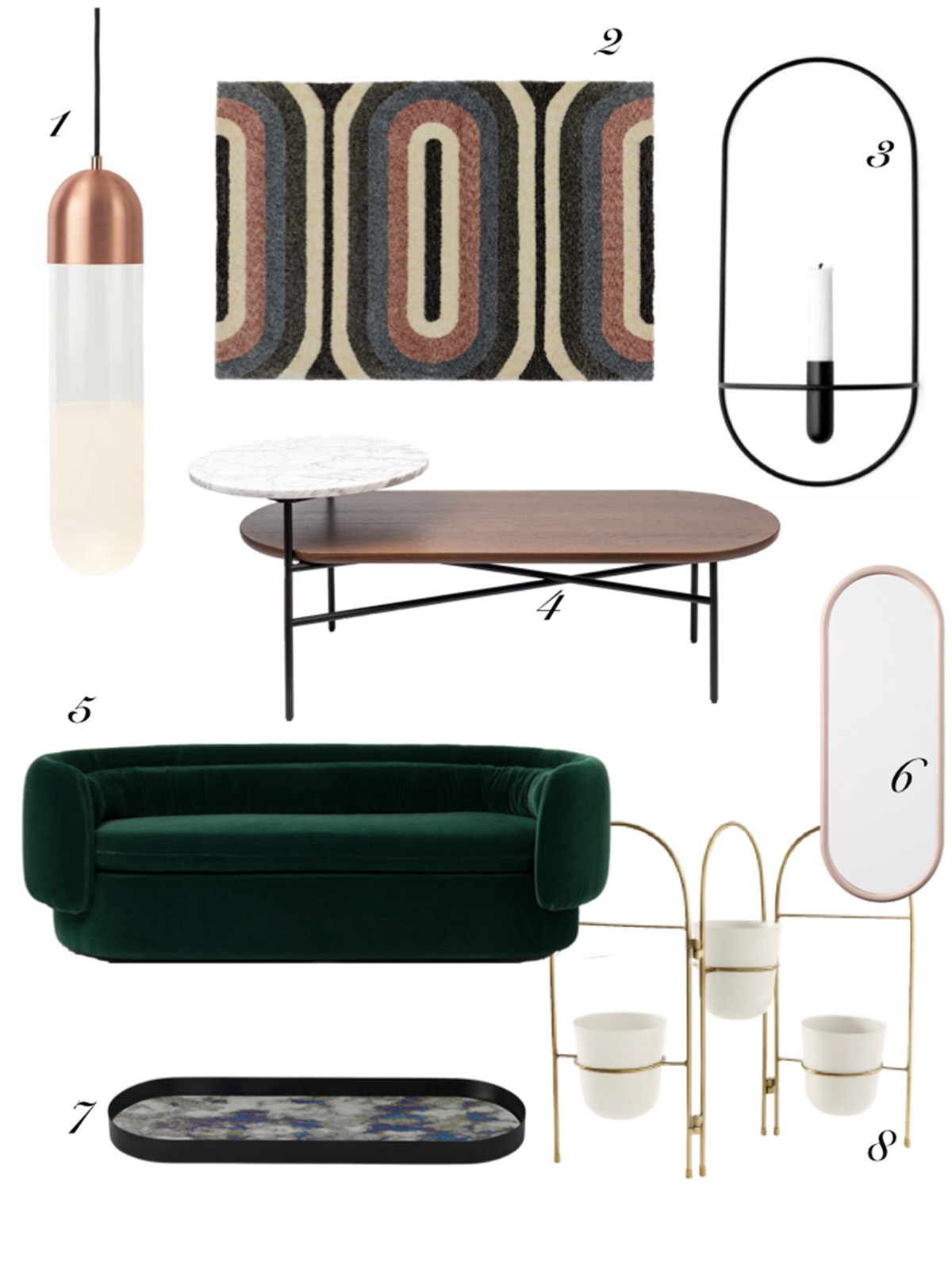 The latest trend to hit interiors is curves and lozenge shapes. Interior designer Sophie Robinson chooses her favourite pieces of furniture and #sophierobinson #curvedinteriors #trendshopping