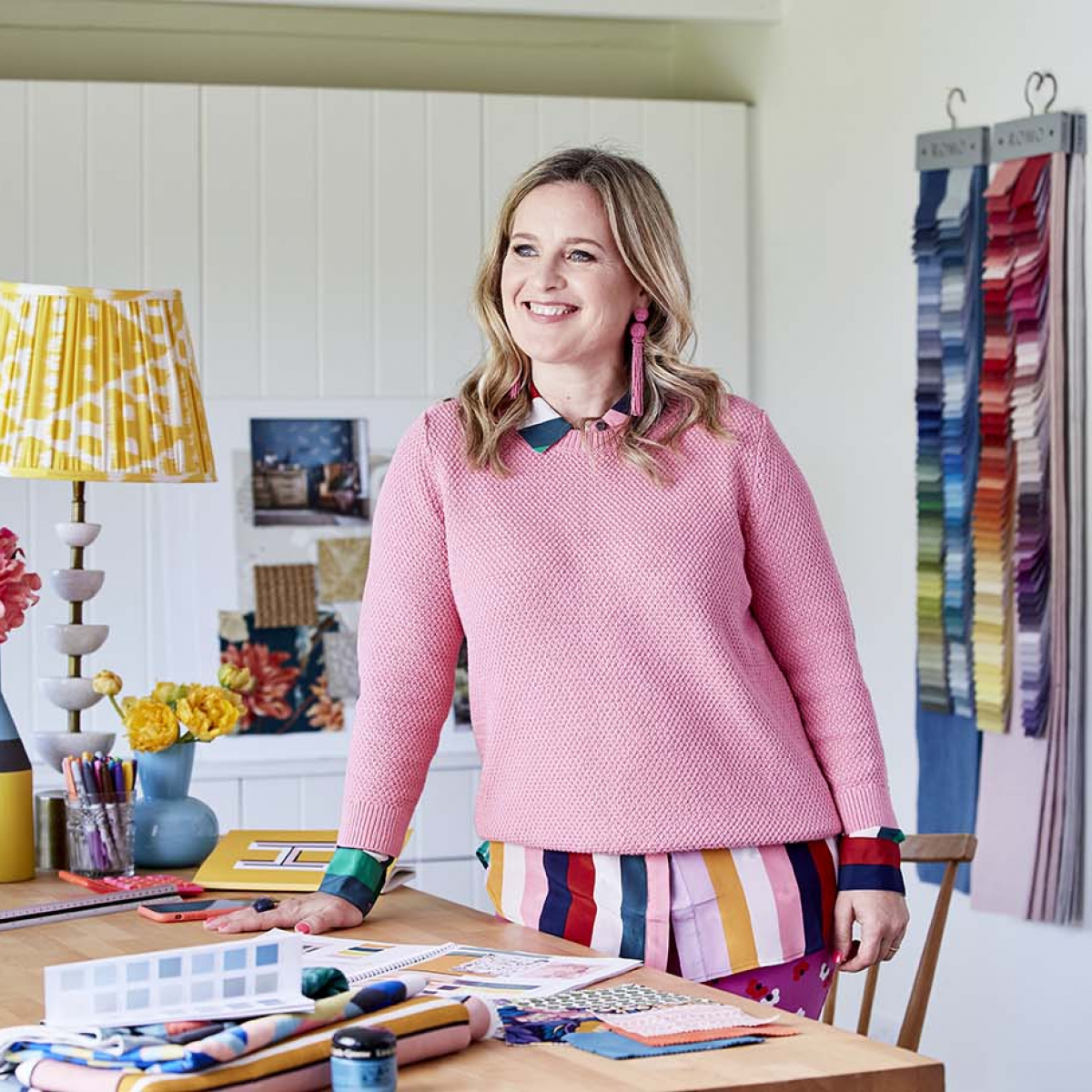 Colour expert Sophie Robinson shares her new intentions and upcoming projects following the summer break. Ready and inspired by her new colourful home office. #homeoffice #newintentions #sophierobinson