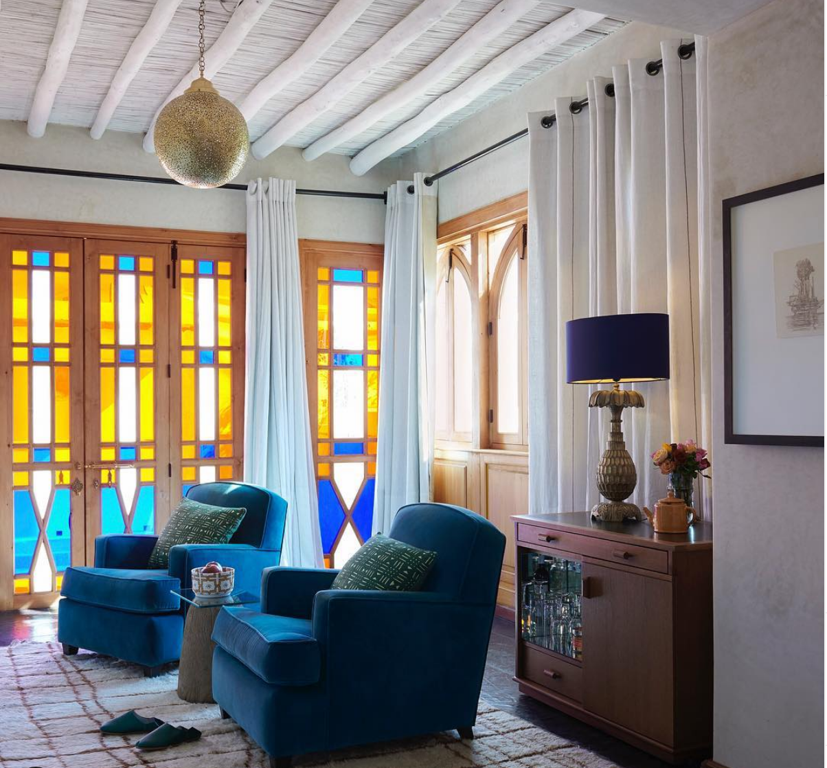 the interior design retreat in El Fenn Marrakech is a great opportunity to source interior design inspiration . click through to book