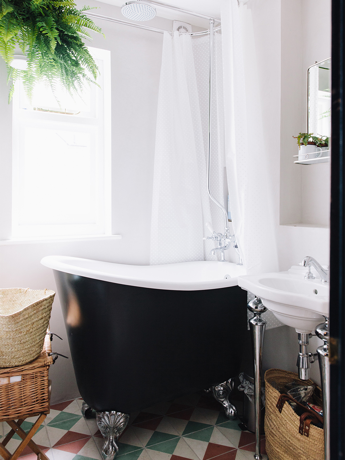 this tiny slipper bath offers luxury in such a small space
