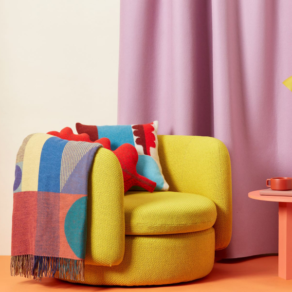 Colour lover and Interior designer Sophie Robinson looks at ways of boosting the mood in your home through colour. Adding accents of bright colours like a yellow armchair and accessorising with patterned throws and cushions will instantly brighten the mood. #colourlover #sophierobinson
