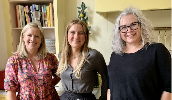 Sophie Robinson, Skye McAlpine and Kate Watson-Smyth photographed for the Great Indoors podcast